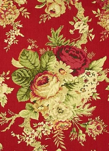 27 Best Images About Waverly Fabrics For Red Cream And