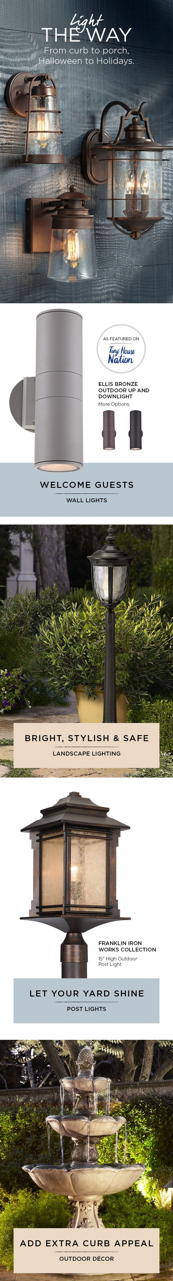 We carry a complete line of exterior lighting for porch, patio and landscape areas that can help make your home safer and more attractive. Brighten an entryway with a hanging design, add style to outside walls or ceilings, or use post lights to improve your driveway and garage areas.