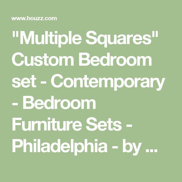 """Multiple Squares"" Custom Bedroom set - Contemporary - Bedroom Furniture Sets - Philadelphia - by Wood Slab Dining Tables by Jeffrey Greene"