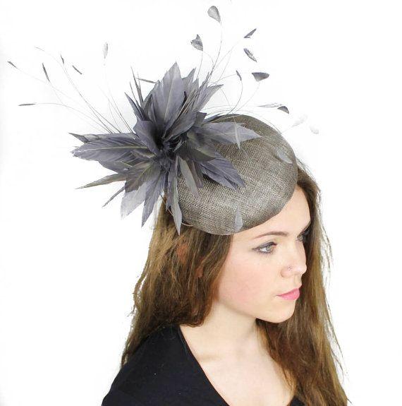 Dark Grey Fascinator Hat
