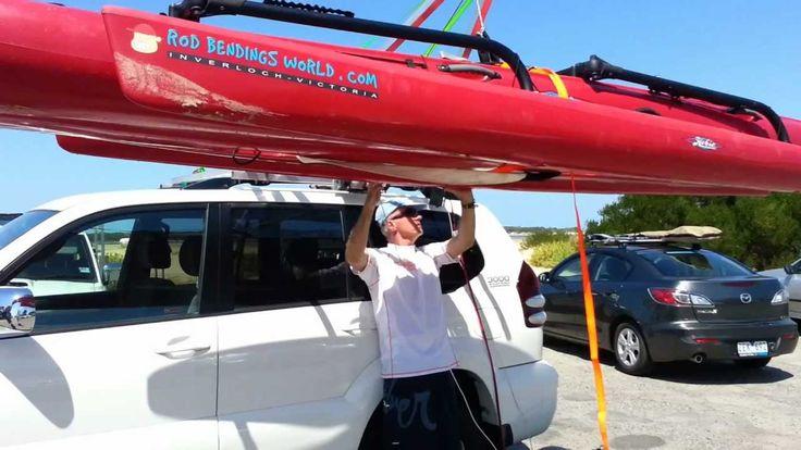 Kayak - Hobie Tandem Island Rooftop Loader / Loading System / Hoist / Li...