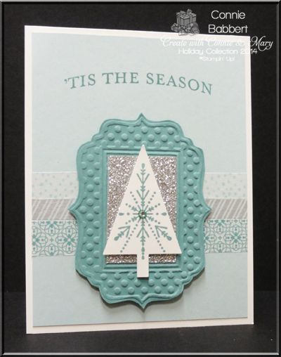 Many Merry Stars, Tree Punch, Snowflake, Frame card, Washi Tape, Christmas, Stampin' Up!, #stampinup, Connie Babbert, www.inkspiredtreasures.com