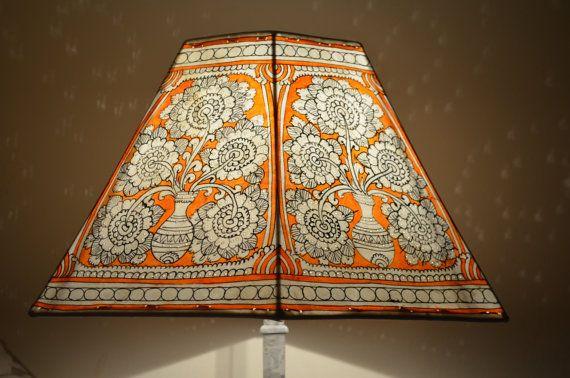 Large Lamp shade, Floor Lampshade Hexagonal, Lamp shade, Floral Pattern Lampshade