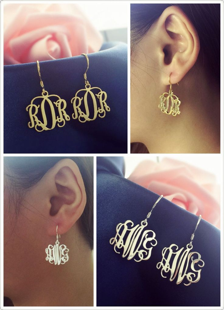 Personalized Monogrammed earrings make a great gift Treat yourself! I like these unique dangle ones,easy ways to Show Off Your Personality   perfectly.