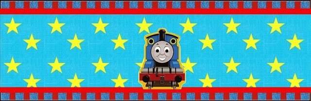 Thomas the Train: Free Printable Candy Bar Labels.