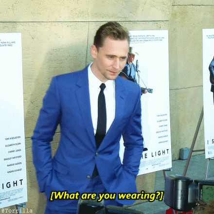 """""""What are you wearing?"""" """"I'm wearing a suit."""" (Gif by Torrilla)"""