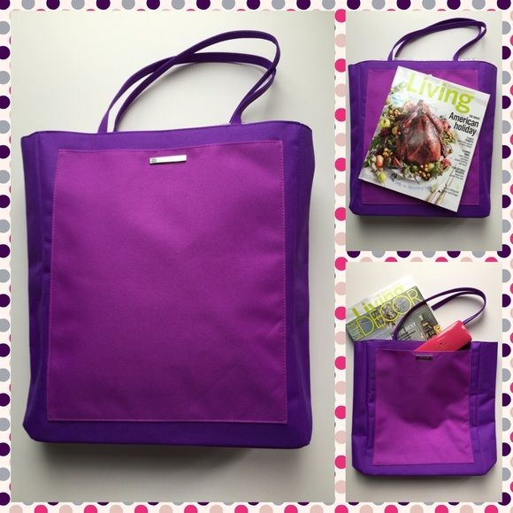 ✨Brand New Purple Tote Bag✨ Clinique brand new tote bag. Pretty purple color. Fit in 13 inches laptop. There is one side pocket in front. Clinique Bags Totes