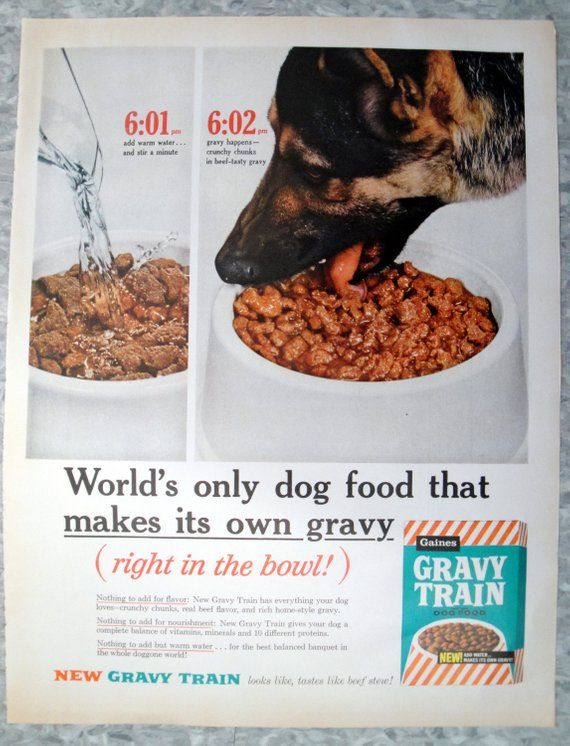 1960 German Shepard Gravy Train Dog