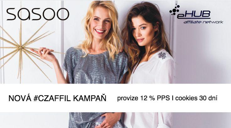 #czaffil kampaň pro módní eshop a galerii www.sasoo.cz s provizí 12 % PPS a životností cookies je online v síti www.ehub.cz!