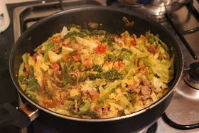 "Turkish Spiced Cabbage and Minced Lamb Stew with Tomatoes   This recipe comes from Rick Stein's new book ""Venice to Istanbul"".  It's a recip..."