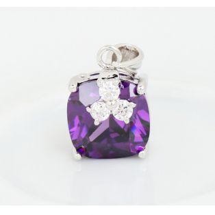 Set bijuterii cu Swarovski Exquisite Purple Stone