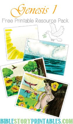 100+ pages of free printable resources for teaching children Creation in Genesis 1