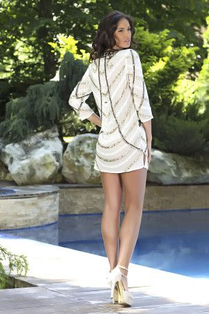 Kallista - A glam embellished beach cover-up