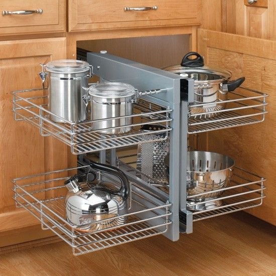 blind corner optimizer unhanded chrome wire - Accessories For Kitchen Cabinets