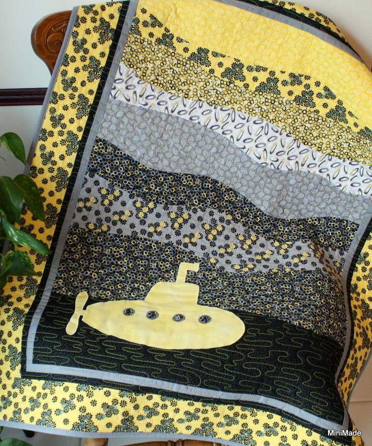 Yellow Submarine Crib Quilt