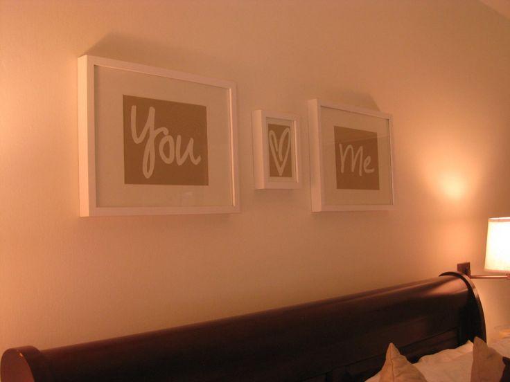 Reminds you each night :): Romantic Diy, Craft, Decor Ideas, Bedroom Decor, Cute Ideas, Decorating Ideas, Diy Artwork, Decorating Home Ideas, Bedroom Ideas