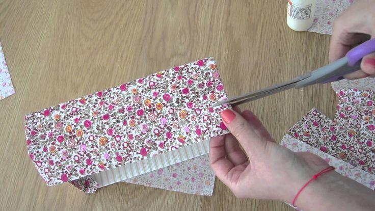 Recouvrir une boite à chaussures de tissu (vidéo)