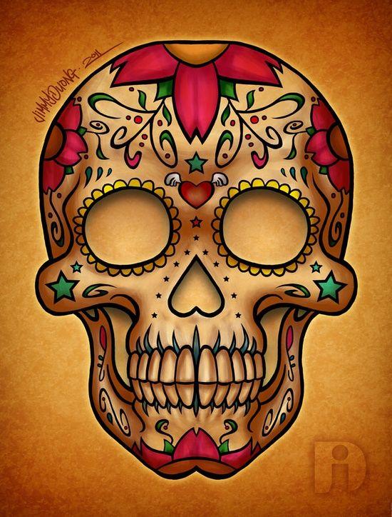 art, day of the dead, dia de los muertos, skull, sugar skull