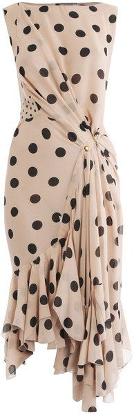 NINA RICCI   Silk Polka Dot Dress - Dressmesweetiedarling