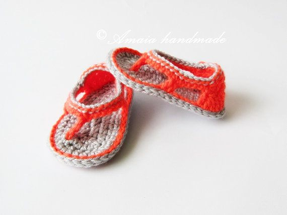 Summer baby shoescrochet baby shoesnewborn by Amaiahandmade