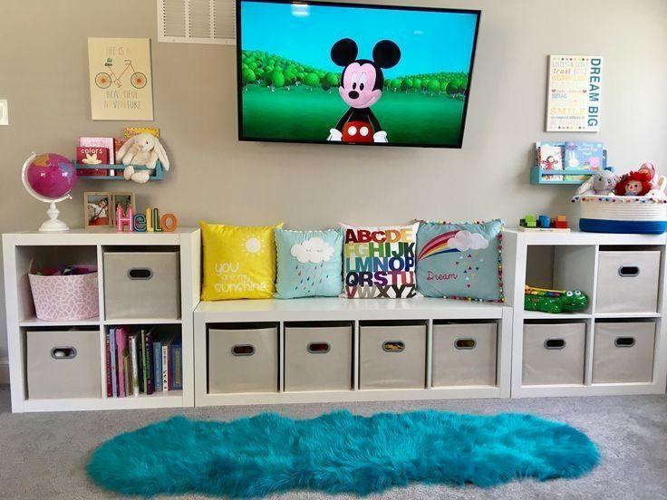 Herausragende Projekte Im Spielzimmer Speicherlosungen Playroom Kinder Design Ideen Dekor Kids Bedroom Organization Organization Bedroom Toddler Bedrooms