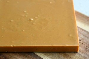 Perfect Fudge slab....and this is exactly like it turned out.