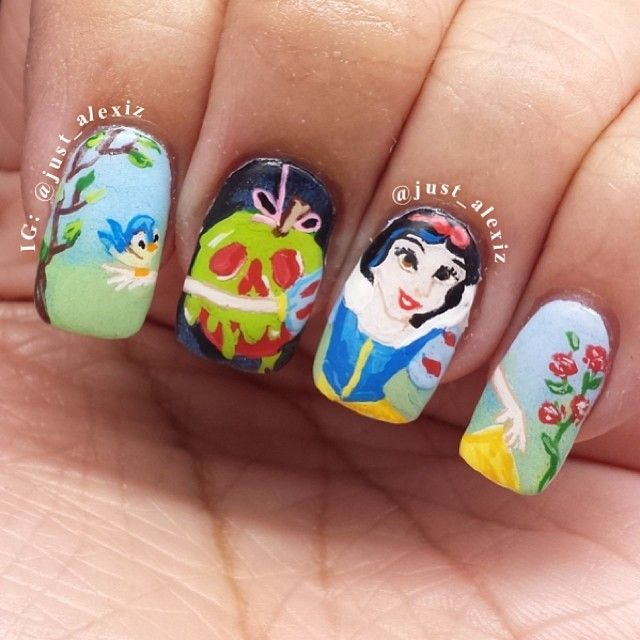 Snow White Nails: 261 Best Paint My CHARACTER Fetish Images On Pinterest
