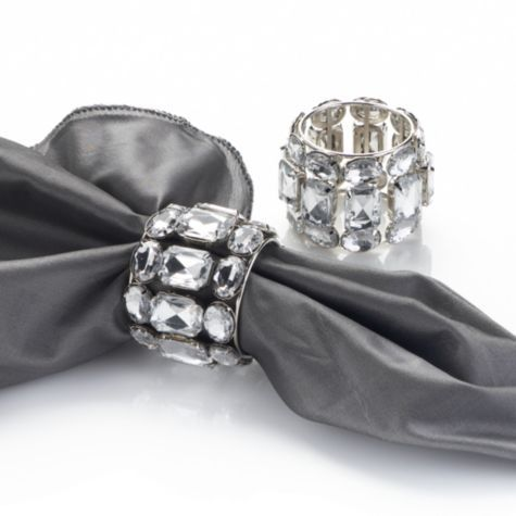 Brilliant Napkin Rings - Clear - Set of 4 from Z Gallerie - 2 sets #zgallerie: Clear, Entertaining, Bling Napkin, Napkins Rings, Wedding, Brilliant Napkin, Table, Photo, Decor Napkin Rings