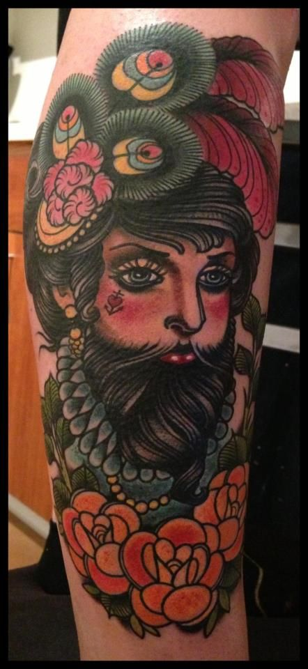 33 best bearded lady folder images on pinterest beards for Tattoo freak costume