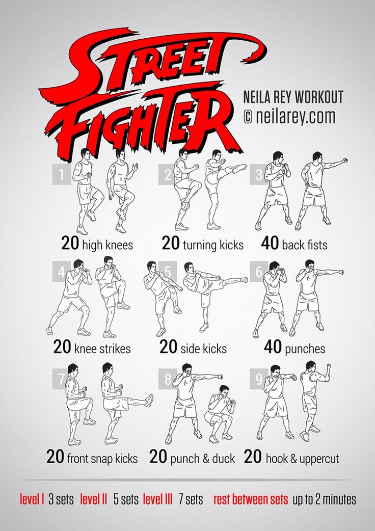 Street Fighter workout.
