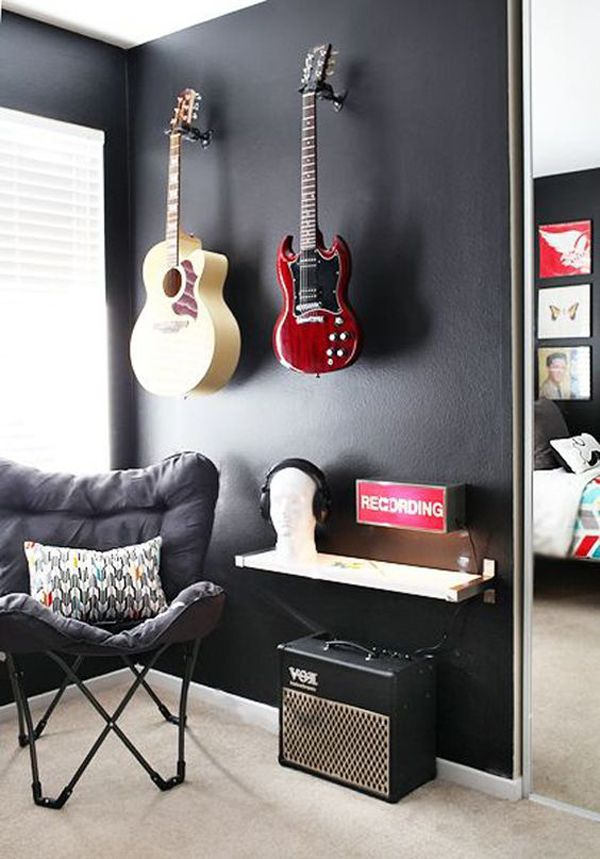 10 Super Cool Music Bedroom For Teenage Boys | Home Design And Interior