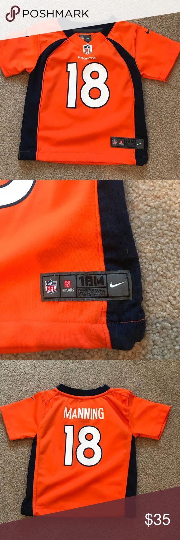 Toddler- 18 months Broncos jersey Peyton Manning Broncos Jersey!  Size is 18 months!  Worn only a couple of times by my son- in perfect condition! Shirts & Tops
