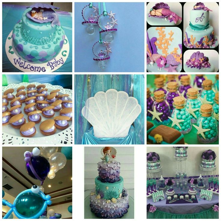 Little mermaid baby shower ideas                                                                                                                                                                                 More