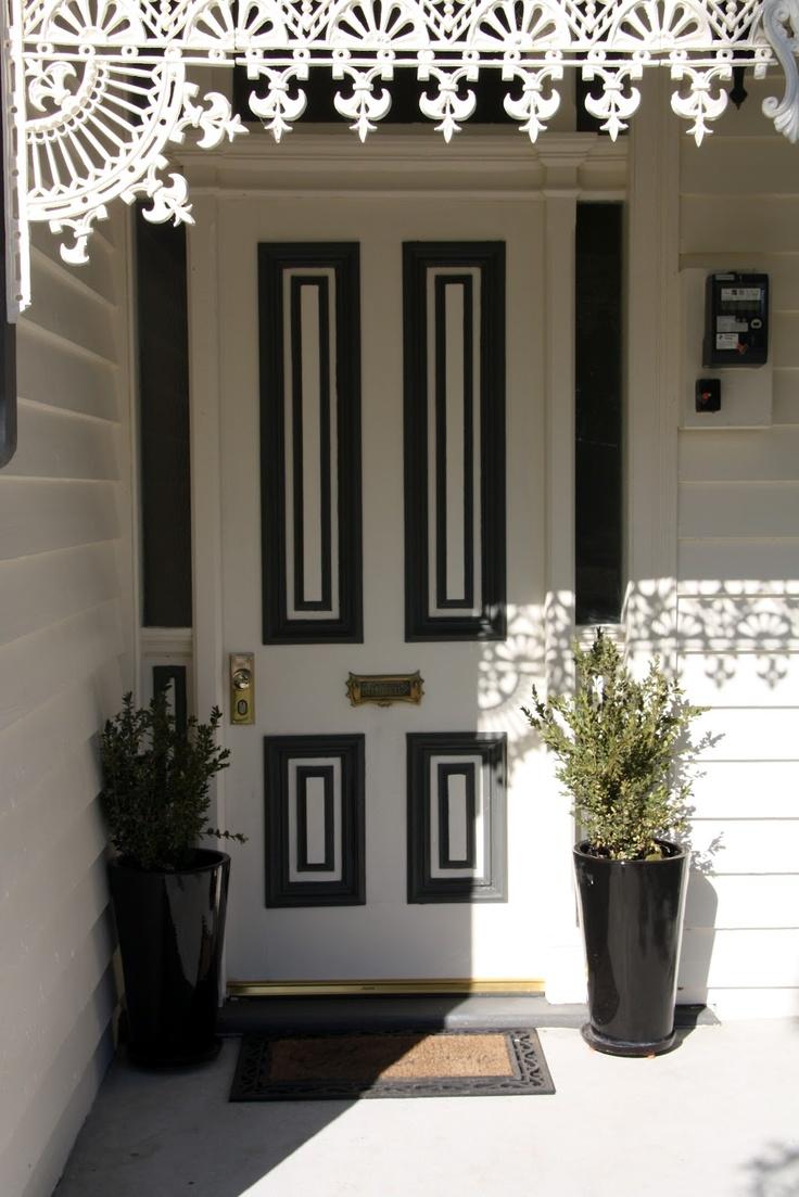 White Door Black Trim 183 Best Front Doors Images On Pinterest Doors Home And Windows