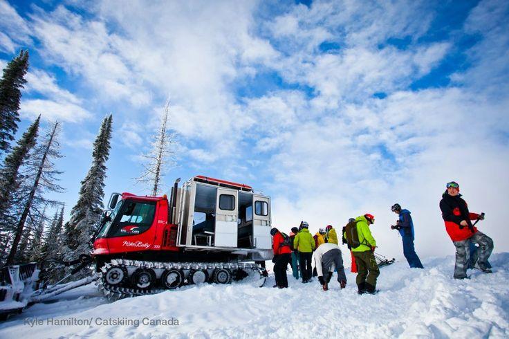 The pickup. Location: Big Red Cats Photo: Kyle Hamilton #snowboarding #backcountry #bigredcats #rossland #catskiing #catskiingcanada www.Catskiing.org