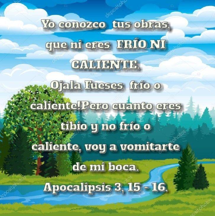 Apocalipsis 3 15 16 Apocalipsis Citas Bíblicas Y Dios
