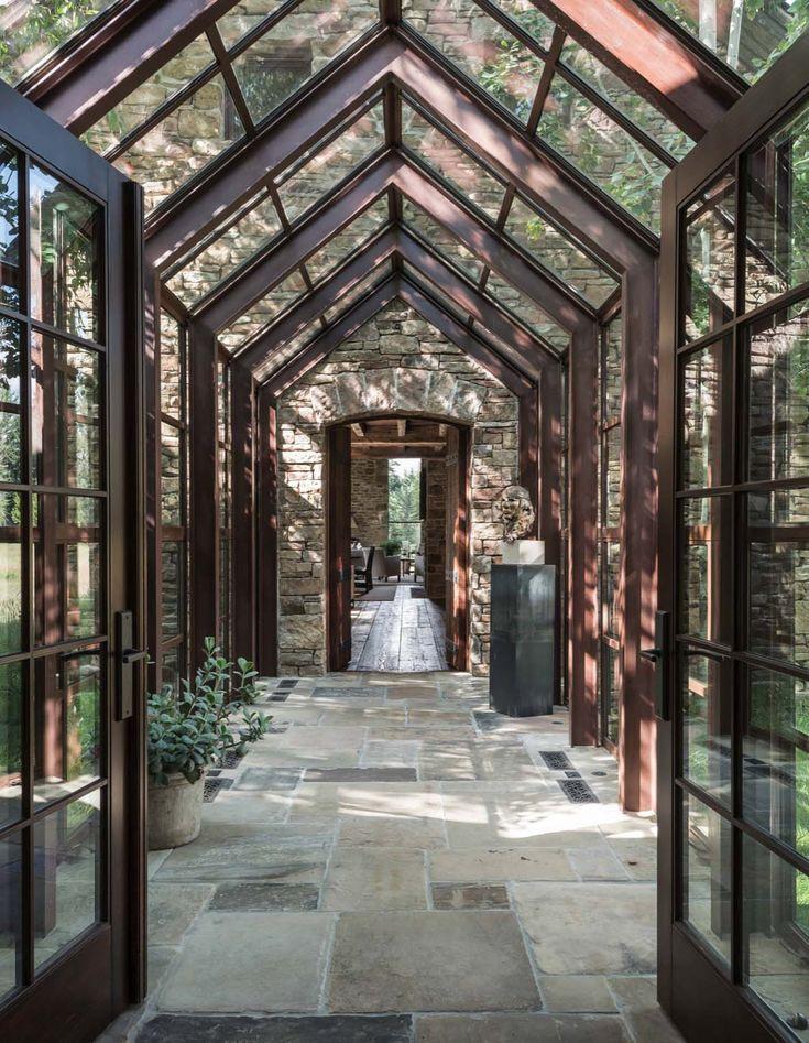 Rustikale Stein- und Holzwohnung mit Blick auf das Grand Tetons
