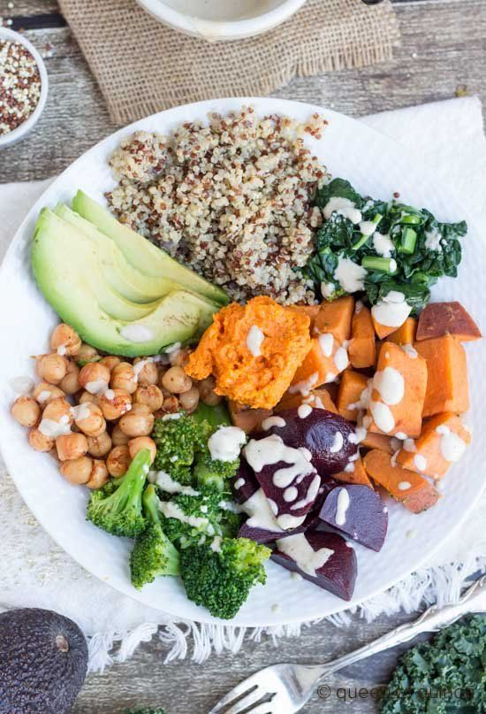 30 BYO Fast & Healthy Lunch Ideas | Nourishing Quinoa Bowl Recipe @stylecaster