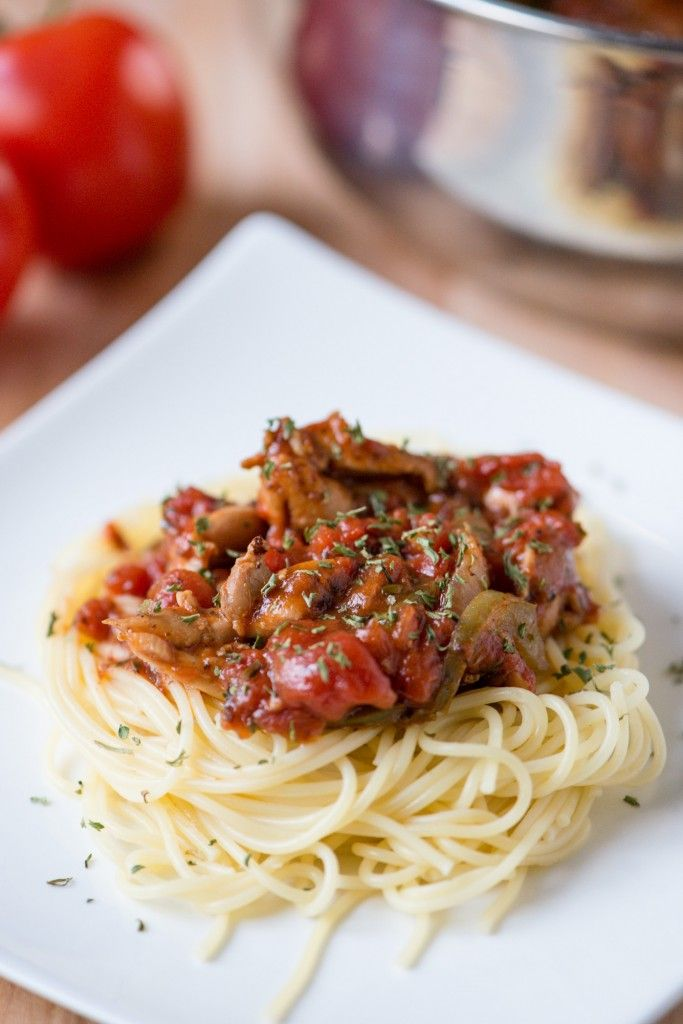 Chicken Cacciatore by bsinthekitchen: Easy to make, budget friendly, and good for the soul. #Chicken #Pasta #Easy