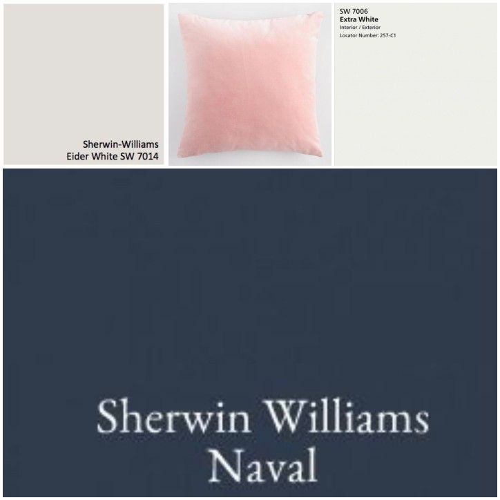 Sw Contented Accent Wall: Accent Wall: SW Naval, Walls: SW Eider White, Trim