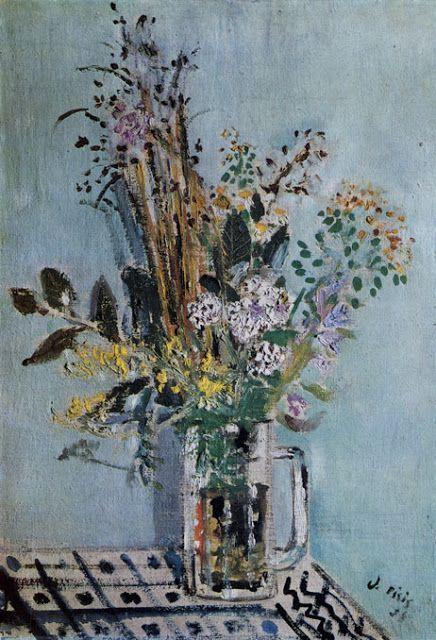 Still life with Flowers - Filippo de Pisis Italian 1896-1956