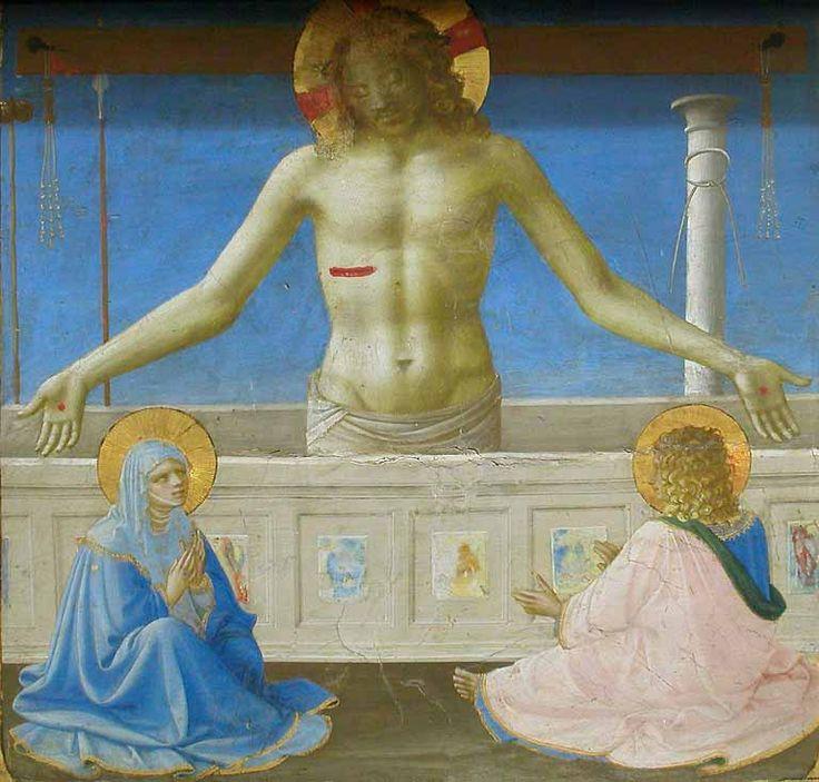 FraAngelico, predella dell'incoronazione della vergine del Louvre, storie di san domenico, 1434-35 No  04 cristo dal sepolcro.jpg