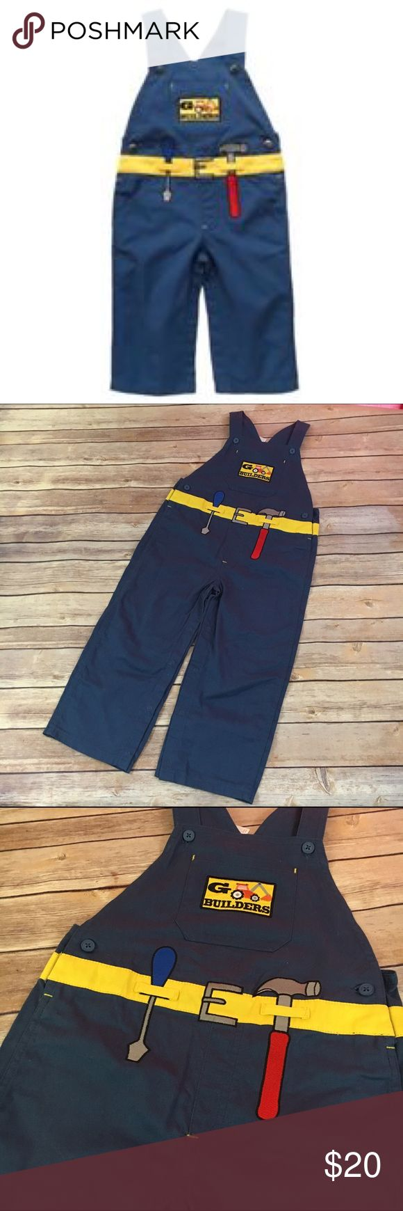 Gymboree G Builders Blue Overalls Costume 4T/5T Gymboree G Builders Blue Overalls Costume 4T/5T NEW NWT  Outlet line.  Could be good for a Bob the Builder costume or just any construction costume.  Snaps around stride, buttons at waist and straps.  #new #nwt #costume #overalls #construction #builder #bobthebuilder #blue #halloween #dressup #roleplay Gymboree Costumes