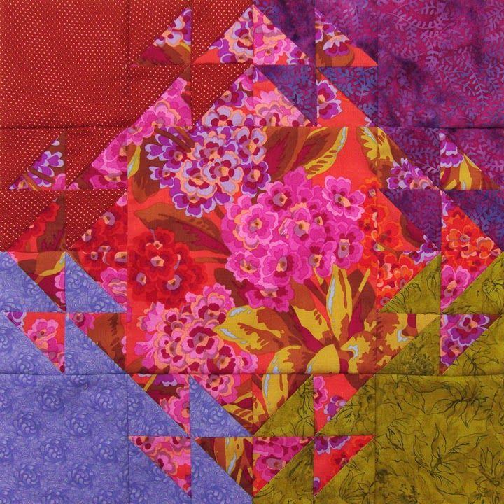 Robin Atkins, shimmer quilt, completed block