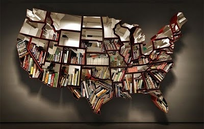 Book shelfLibraries, Bookshelves, Bookshelf Design, 50 States, Maps, Bookcas, Ron Arad, Book Shelves, United States