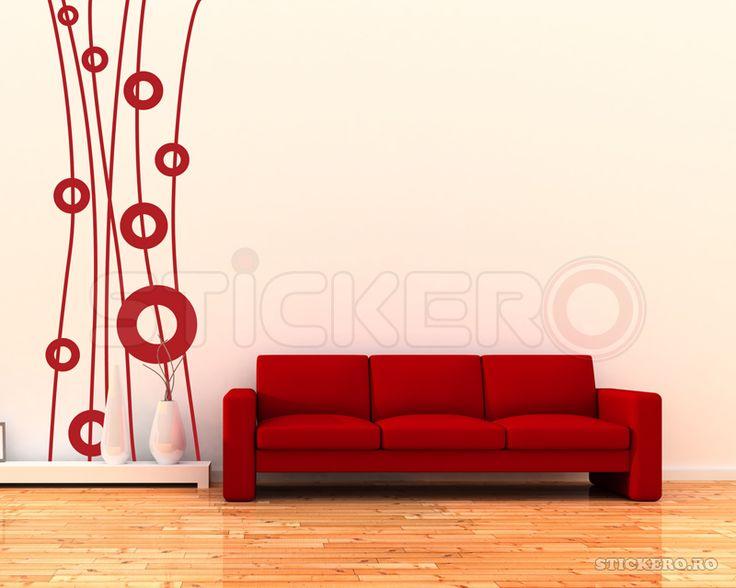 Sticker decorativ Linii si Cercuri