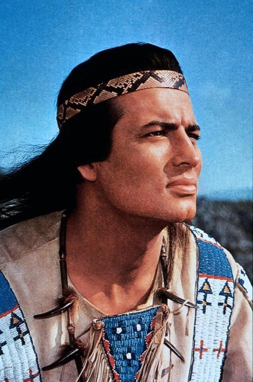 "Pierre Brice - Winnetou in the movie ""Winnetou III (The Desperado Trail)"", 1965"