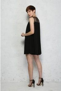 Black Embellished Flapper Dress - Smock Style Dress