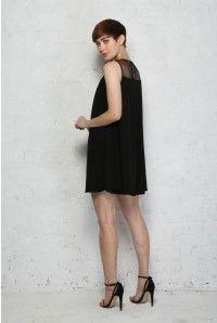 Black Embellished Flapper Dress - Smock Style Dress