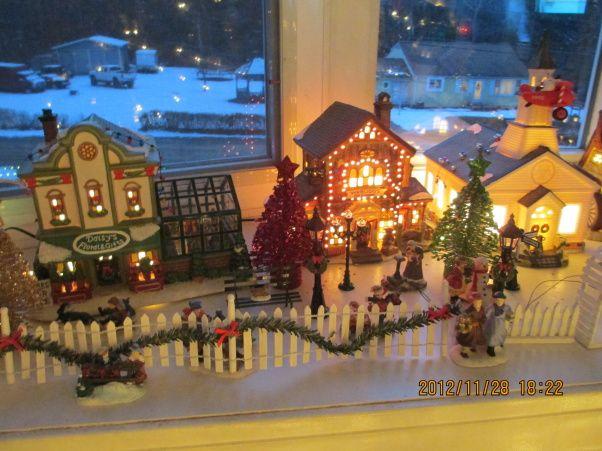 Tree christmas village holidays design church environments ideas